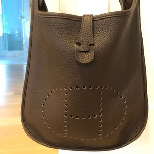 Authentic Hermès Evelyne PM bag - Chocolate Brown